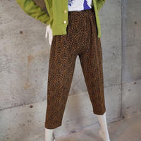 Animal Patterned Acetate Knit Pants