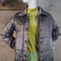 Vintage Designed Shiny Padding Long Coat