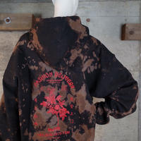 """HAM"" Original Bleach Out Zip-up Hoodie #Black"