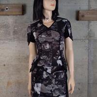 Vintage Designed Sheer Top & Skirt Co-ords