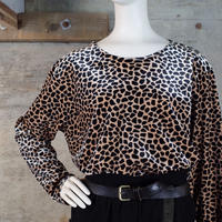 Vintage Animal Patterned Velour Top