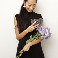 手帳型スマホケース  flower lace