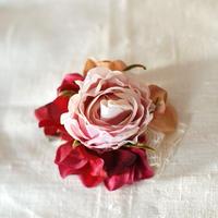 ローズのコサージュ(アート・lavender)
