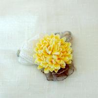 マムのコサージュ(アート・cream-yellow)