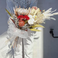 wedding bouquet&boutonniere#キングプロテア