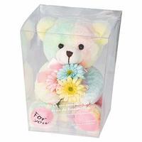 お花を抱えたぬいぐるみ フルリールブーケベア クマのぬいぐるみ ティディベア (シロップ)