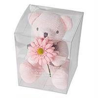 お花を抱えたぬいぐるみ フルリールブーケベア クマのぬいぐるみ ティディベア (リリ ピンク)