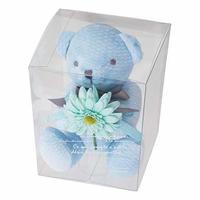 お花を抱えたぬいぐるみ フルリールブーケベア クマのぬいぐるみ ティディベア (ララ ブルー)