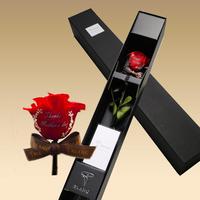 一番人気【メッセージローズ】プレミアムプリザ Red『花瓶・袋付』