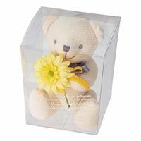 お花を抱えたぬいぐるみ フルリールブーケベア クマのぬいぐるみ ティディベア (ルル イエロー)