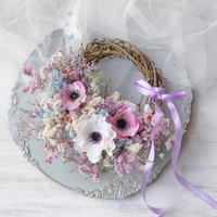 interior wreath *pink anemone* 再販受注分
