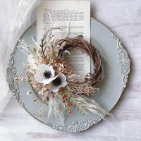 wreath   *anemone natural *