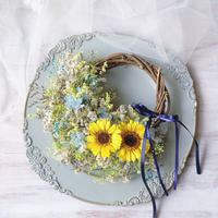 interior wreath *summer flower* 再販受注分