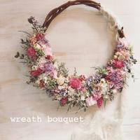 wreath bouquet (オーダーメイドリースブーケ + ブートニア)