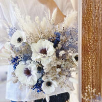 bouquet *navy and gold*