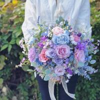 レンタルブーケ * baby blue × lavender pink *  3泊4日