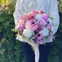 レンタルブーケ *anemone × smoky pink*  3泊4日