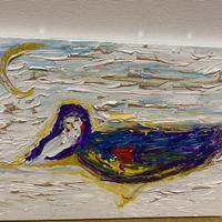 N様 オーダー絵画 『聖女リタ様の雪浴び』