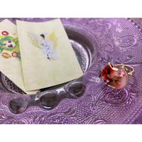 愛の花びらシジル 猫リング(赤花)