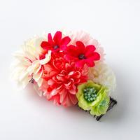 HA-0305 成人式 卒業式 お花 髪飾り 和風オリジナル髪飾り ピンク ベージュ グラデーション ローズ系日本製