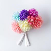 HA-0297 成人式 卒業式 お花 髪飾り 和風オリジナル髪飾り ピンク ベージュ 水色 紫 白 フリンジ 日本製