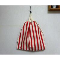 お着替え袋(赤ボーダー)
