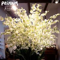 光触媒プレミアムオンシジウム27Fラウンド グリーン / アートフラワー サイズ260 ギフト 抗菌消臭