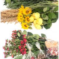 パンプキンアレンジ花材とコーンアレンジ花材