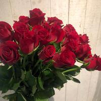 赤バラの花束(25本)