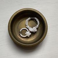 white bonbon/Lサイズ Czech beads[1piece]
