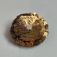 antique gold flower brooch