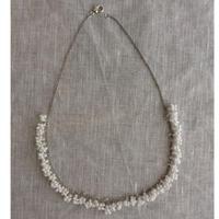 星の粒necklace 【オパックホワイトラスター、受注生産品】