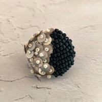 silver half moon brooch