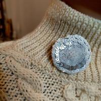 silver white flower brooch