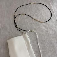 マスクコードネックレス[black/silver]