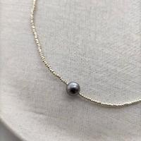 silver short  necklace [vintage]
