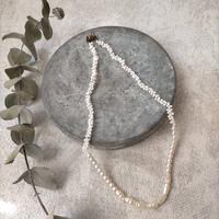 tsunagu necklace  [long pearl]
