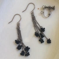 螺旋  black  【 pierce &earring】