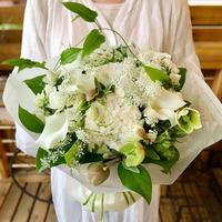 ゆず花オリジナル ナチュラルブーケ -White-