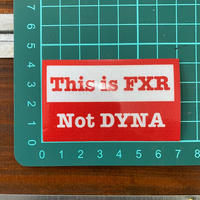 This is FXR, Not DYNA リフレクターステッカー 1枚