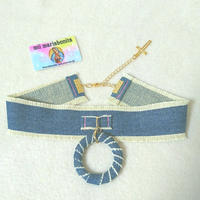 Denim Ring Choker