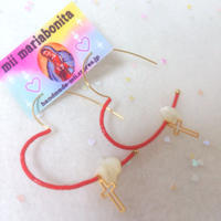 BE MY BABY Heart pierce☆red×Sell