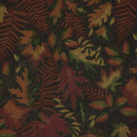 MODA   AUTUMN REFLECTIONS   leaves&ferns/brown 110㎝幅  10cm単位