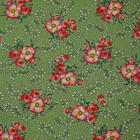 MODA   MERRY GO ROUND  large floral/green 110㎝幅  10cm単位