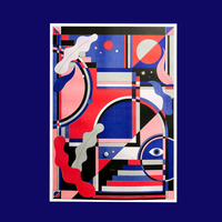 A2 RISO Poster by Asuka Watanabe / 渡辺明日香