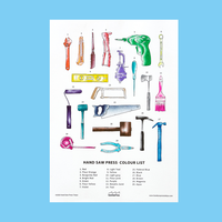Hand Saw Press Color List 2020