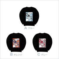 ★第2弾★【通販限定受注生産】バックプリント スウェット(ブラック)