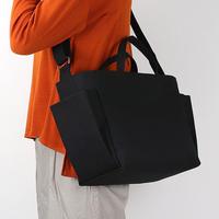 【コンテナショルダー 2way】北欧×富士金梅 ブラック・帆布ショルダーバッグ