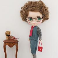 DIY ブラウス +リネンタックベスト+リネン七部丈パンツ(青) キット