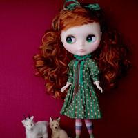 [完成品 / Pre-order]  ボヌール ハーブス スタッフドレス (緑色) / Bonheur Herbes staff dress (  Green color)